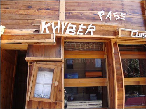 Khyber Pass restaurant, the Plateau