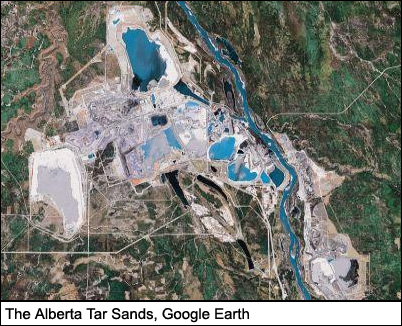 The Alberta Tar Sands, Google Earth