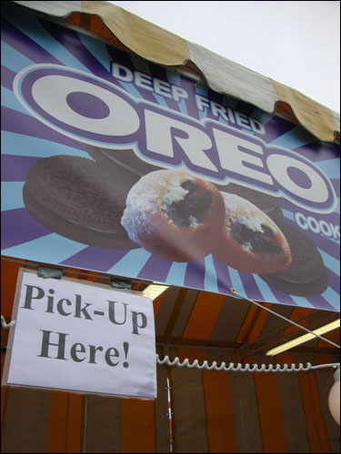 deep fried oreo stand, cne
