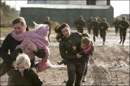 Gwen and Reese trying to escape the children cull in Torchwood: Children of Earth