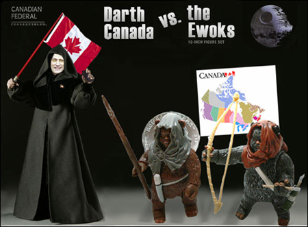 Darth Canada vs. the Ewoks