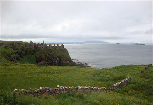 Dunluce Castle ruins, Northern Ireland, July 2, 2013
