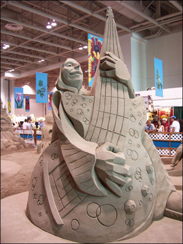 San d sculpture exhibit. CNE, August 25, 2009