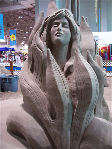 San d sculpture exhibit. CNE, August 25, 200