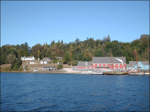 Discovery Harbour, Penetang, from Georgian Bay, September 12, 2009