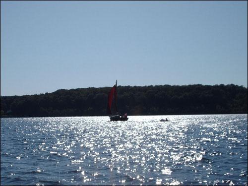 Boating on Georgian Bay, September 12, 2009