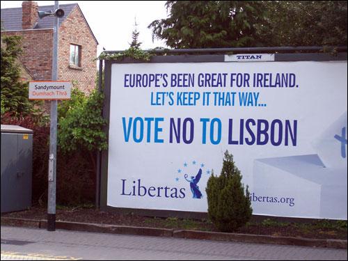 Political Signage, Sandymount DART station, Dublin, May 2008