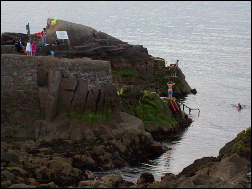 Swimmers at Sandycove, Dublin, May, 2008