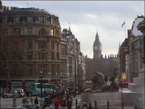 View from Trafalgar Square