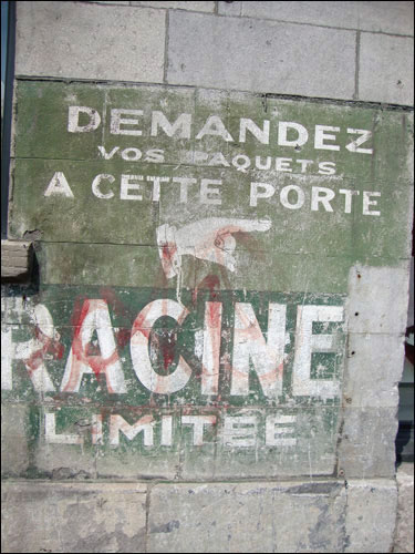 Old Montreal sign