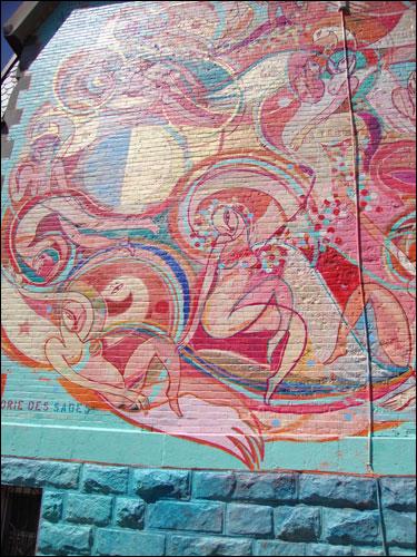 Rue Prince-Arthur mural, Montreal