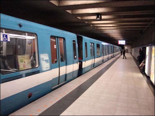 Catching the metro, Montreal