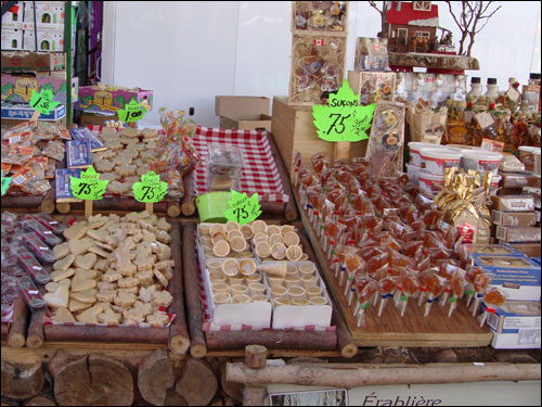 Maple syrup products, Jean Talon market, Montreal
