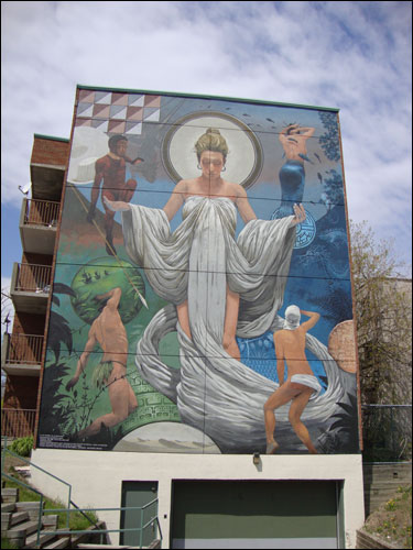 Little Italy mural, Montreal