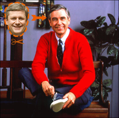 Harper as Mr. Rogers