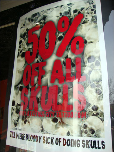 Tattoo skull sale, Orangeville