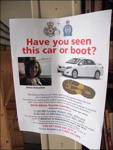 Have you seen this car or boot? The OPP and the Orangeville Police Service are investigating the murder of Sonia Varaschin.