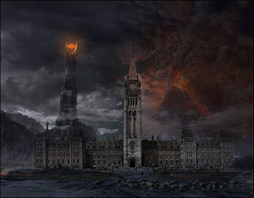 Canadian Parliament as Mordor