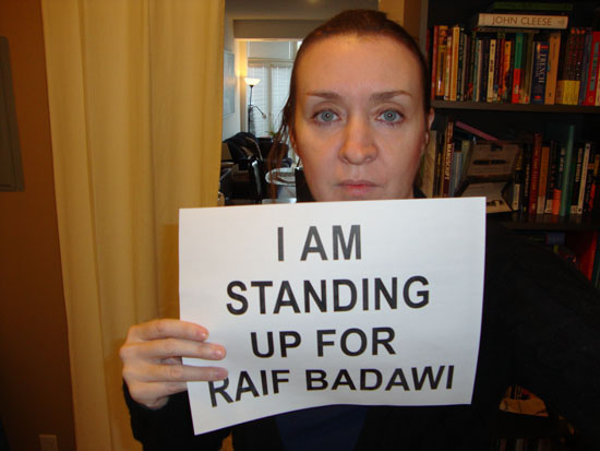 I Am Standing Up For Raif Badawi
