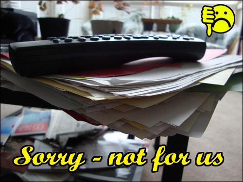 rejection folder: sorry - not for us