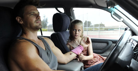 Nathan Phillips (James) and Angourie Rice (Rose)  in These Final Hours