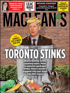 Maclean's: Toronto Stinks