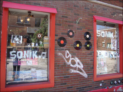 Sonik record store, the Plateau, Montreal