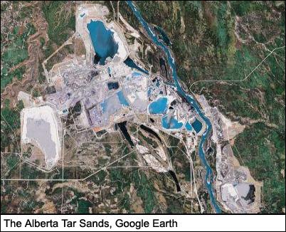 The Alberta Tar Sands, Google Earth