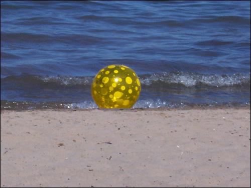 On the beach, July 5, 2008