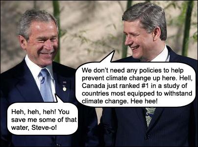 Bush and Harper at the G8 summit in Toyako, Japan.