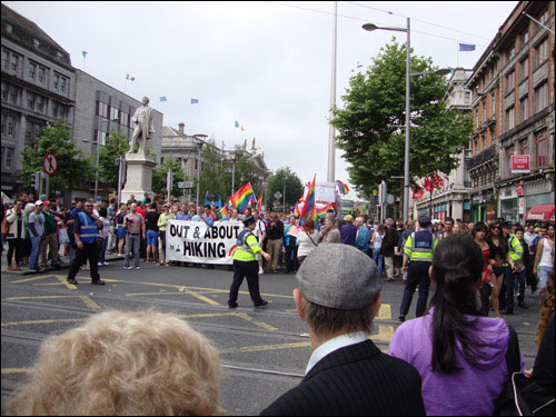 O'Connell Street, Dublin Pride Parade: June 29, 2013.