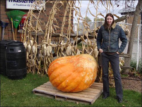 Me & a 734 pound pumpkin
