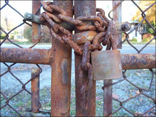Old lock, Nov 8, 2009