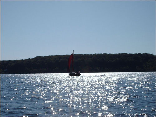 Boating on Georgian Bay, September 12, 2009