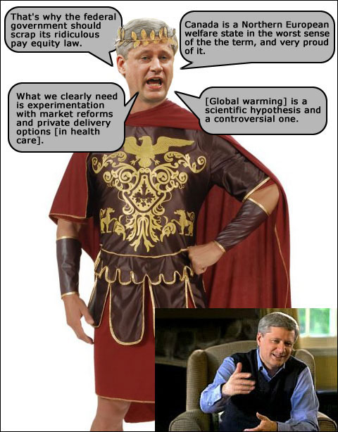 Scary stuff Stephen Harper's said