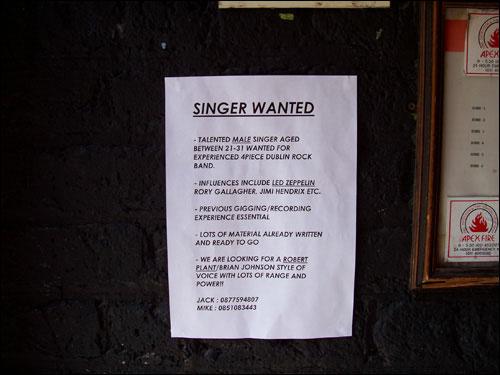 Eamonn Doran's sign, Dublin, May 2008