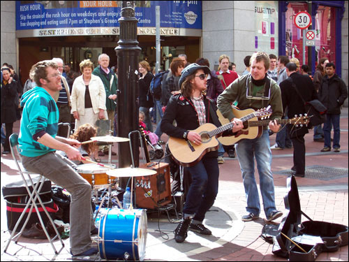 Grafton Street Buskers, May, 2008