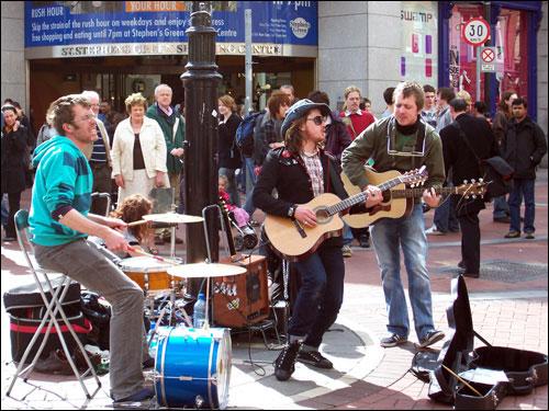 Grafton Street Buskers, May, 2008