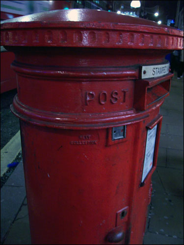 Post Box, Oxford Street, December 9, 2008