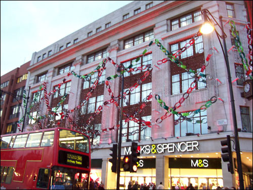 Marks & Spencer, Oxford Street, December 9, 2008
