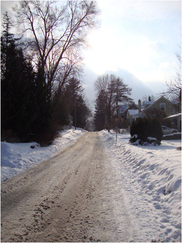 Snowy Oakville Street, February 14, 2014