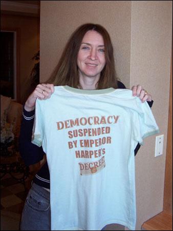 Democracy suspended by Emperor Harper's decree