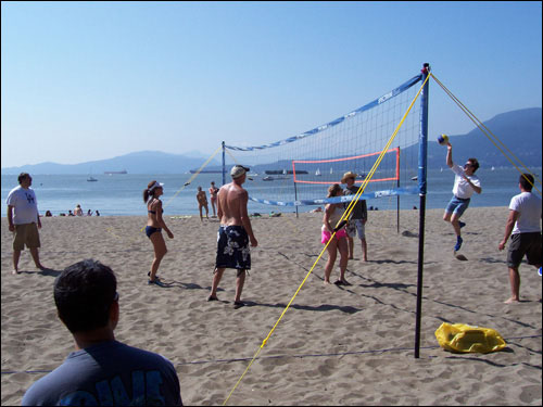 Volleyball game, Kits Beach