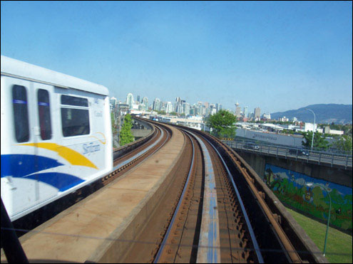 Front Seat, SkyTrain approaching Vancouver