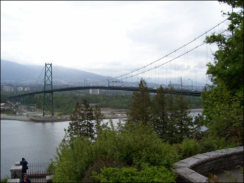 Lion's Gate Bridge from Prospect Point, Stanley Park